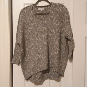Gray and white multi sweater
